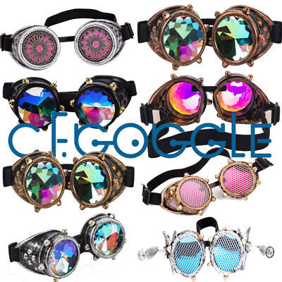 Geometric Prism Kaleidoscope Goggles Rave Dance Refraction Fashion Sunglasses (Sunglasses Dance)