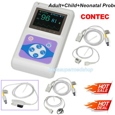 Contec Oled Fingertip Pulse Oximeter Cms60d Adultchildneonatal Probe Newest Us