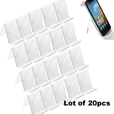 - 20x Clear Acrylic Mount Holder Display Stand Rack For Cell Phone Mobile Phone