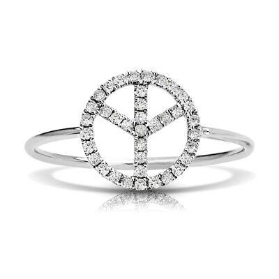 Petite Peace Sign Diamond Ring