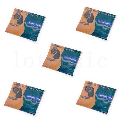 5Set Acoustic Guitar 6 strings.010-.047' Super Light for Yam