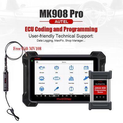 AUTEL MK908P MaxiSYS Pro MS908P Diagnóstico Preprograma ECU J2534 Elite Coding