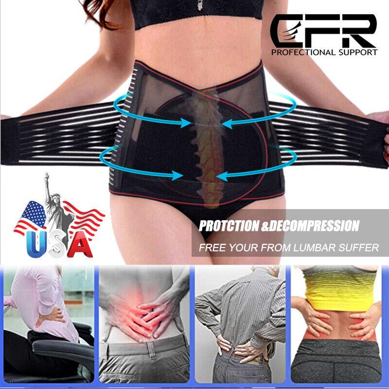 Lower Lumbar Support Waist Adjustable Belt Brace Pain Relief Corset Shaper Sport