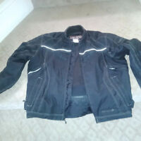 FXR Ignitor Mens Armoured Motorcycle Jacket (size large)