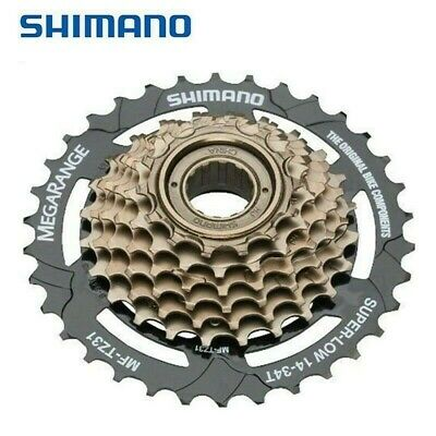 Shimano 7 Speed MF-TZ500-7 Index 14-28 Freewheel Block Screw On Cassette