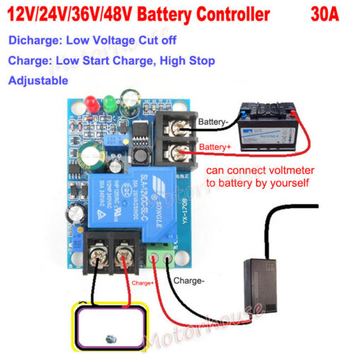 12V-48V Battery Auto Low Voltage Cut Off Over Protection Controller Relay Module