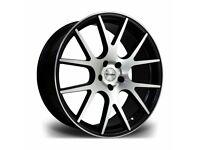 """x4 20"""" Riviera RV185 Alloy Wheels Bmw 3 4 5 6 Series M Sport Black Pol 5x120"""
