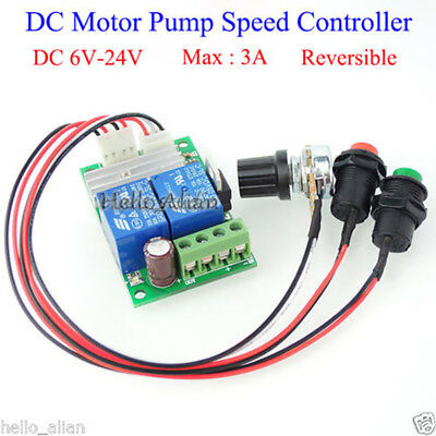 Dc6v 9v 12v 24v 3a Pwm Dc Motor Speed Driver Controller Cw Ccw Reversible Switch