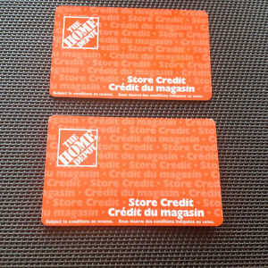 Home Depot gift cards.