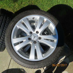 MERCEDES OEM RIMS WITH MICHELIN SNOWS (C CLASS)