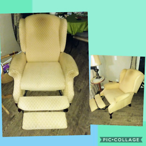 2 FULL RECLINING WING BACK CHAIRS