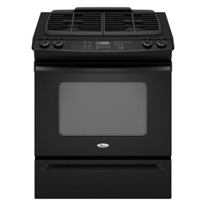 Whirlpool Gold GW397LXUB Slide In Gas Range,30 in.