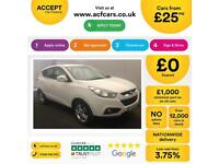 HYUNDAI IX35 WHITE 1.6 GDI STYLE 2WD STATIONWAGON PETROL FROM £25 PER WEEK!