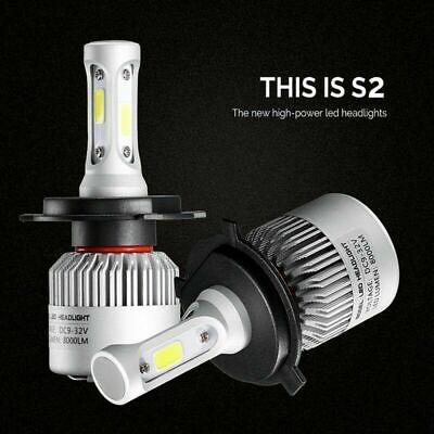 1 Pair H4 200W HB2 9003 6500K HI-LO Beam COB LED Headlights Lamp Bulb Universal