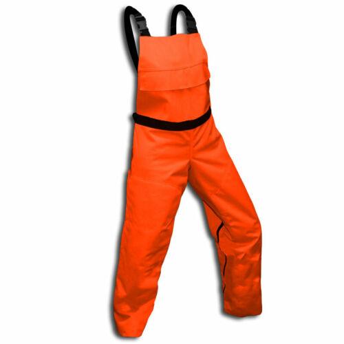 Chainsaw Protective Safety Bibs Orange  Meet OSHA Standards