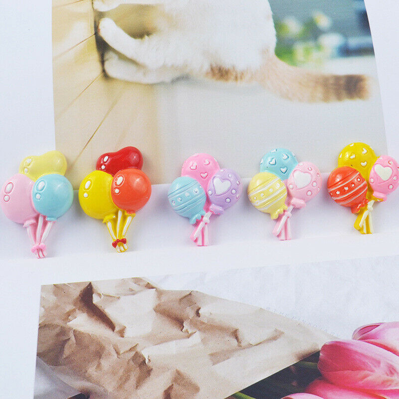10x+balloon+Flatback+Resin+Craft+For+DIY+mobile+phone+case+Hair+Bow+Supplies+SL