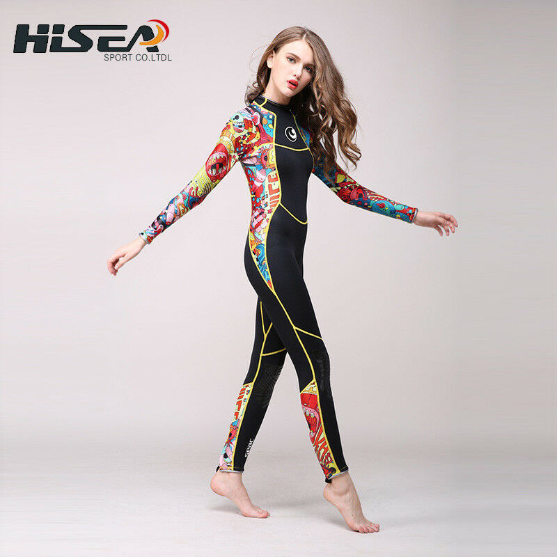b0b1273676 Details about Hisea 3mm Neoprene Wetsuit Women Spear Wet Suit Diving  Swimwear Surfing Swimsuit