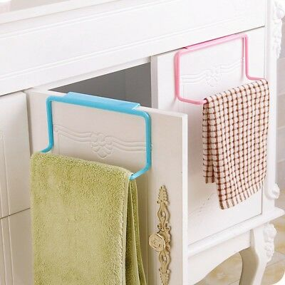 Towel Rack Cabinet Door Back Single Bar Rag Holder Plastic Bathroom Towel Hanger