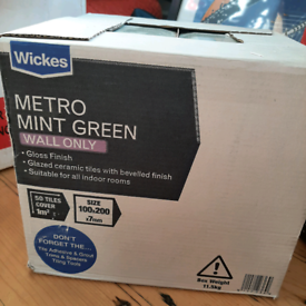 Wickes mint green metro tiles x 58