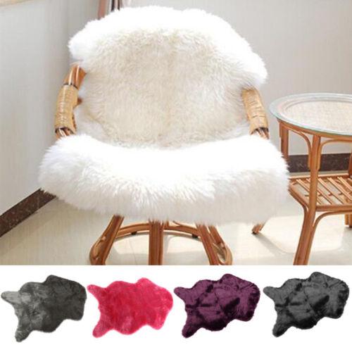 US Faux Fur Fluffy Anti-Skid Rug Mat Sofa For Floor Room Car