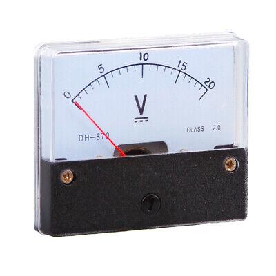 1pc Dc Analog Meter Panel Voltmeter Voltage Meter Dh-670 0-20v Gauge