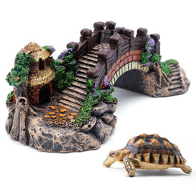Bridge Fish Tank Resin Ornaments Pavilion Tree Aquarium Accessories Decoration (Fish Ornaments)
