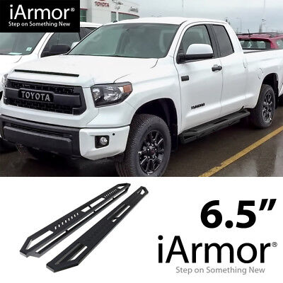 iArmor 6.5in Nerf Bars Square Rocker Guards Fit 07-21 Toyota Tundra Double Cab