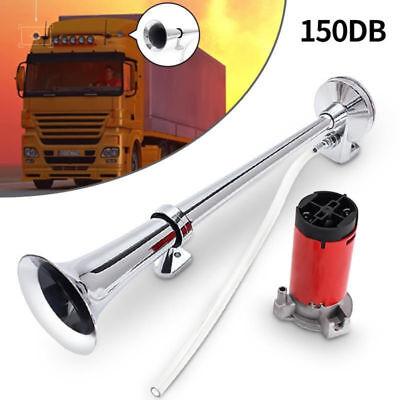 150db 12V Super Loud Air Horn Compressor Single Trumpet Truck Train Boat - Single Trumpet Horn