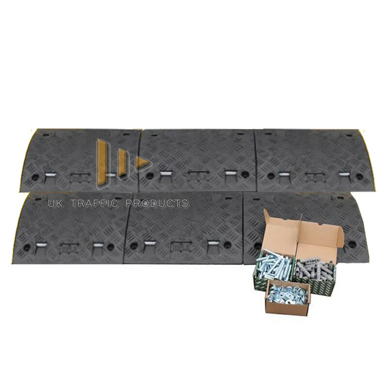 6 mid sections, NO ENDS + fixings 3M Speed Ramp Kit *75mm* ALL BLACK