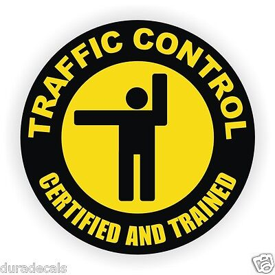 Traffic Control Hard Hat Decal Safety Helmet Sticker Union Laborer Label Flagger