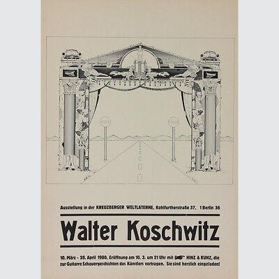 Walter Koschwitz. Ausstellungsplakat Kreuzberger Weltlaterne 1980