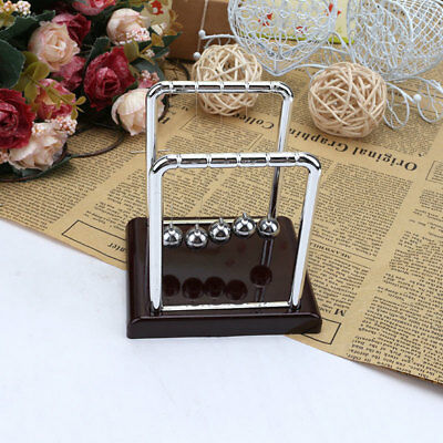 Newtons Cradle Steel Balance Balls Physics Science Pendulum Desk Accessory X 1