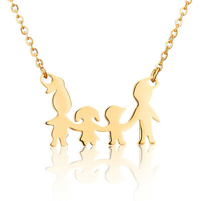 Four Family Charm Pendant Necklace for Family Jewelry Best Friend Necklace