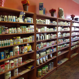 SOLID WOODEN SHELVING STAINED