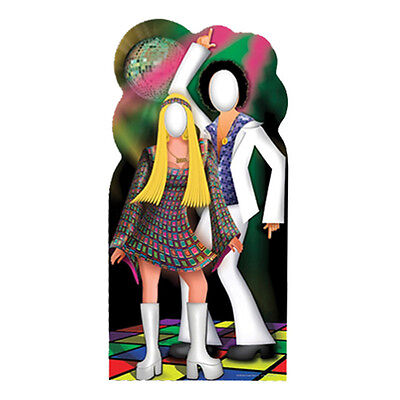 DISCO COUPLE 70s Dancers Stand-In CARDBOARD CUTOUT Standin Standup Standee F/S (Disco Couple)