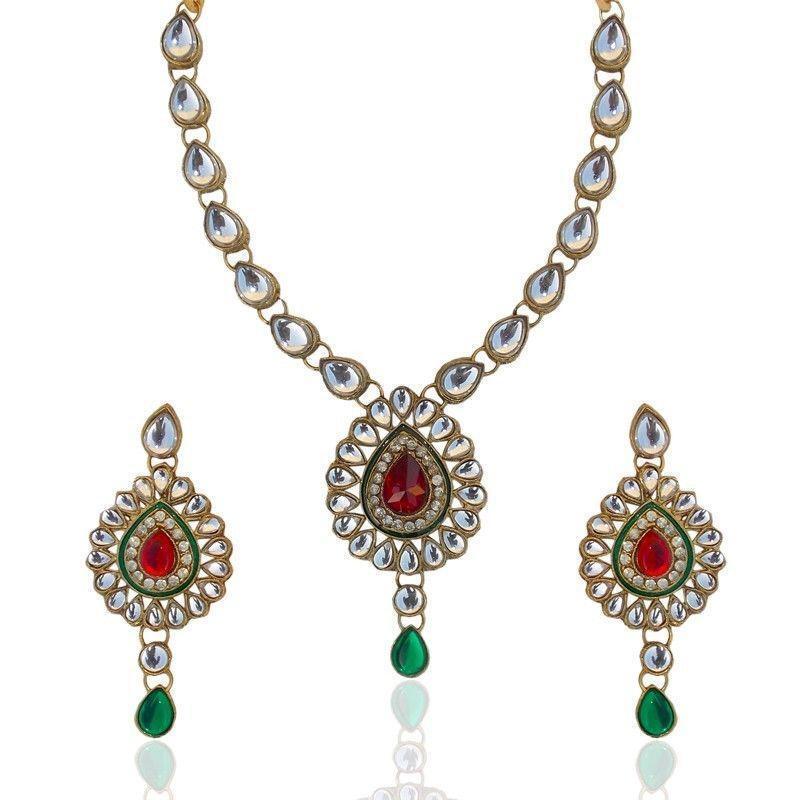 Kundan Jewelry Set: Kundan Necklace Set
