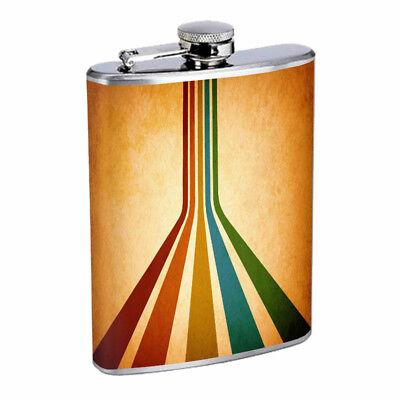 (Retro Design Em3 Flask 8oz Stainless Steel Hip Drinking Whiskey)