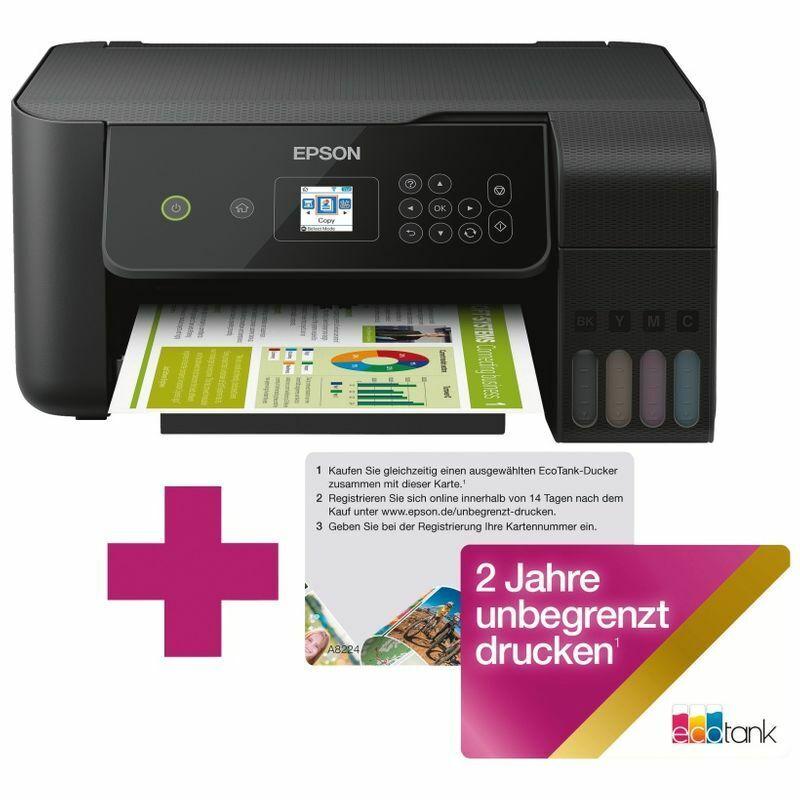 Epson EcoTank ET-2720 unlimited - Tintenstrahl Multifunktionsdrucker mit W-LAN