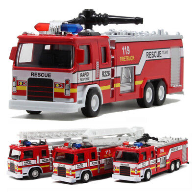 Model Toy Rescue Fire Truck Kids Educational Toys over 3 year Children w/ Sound