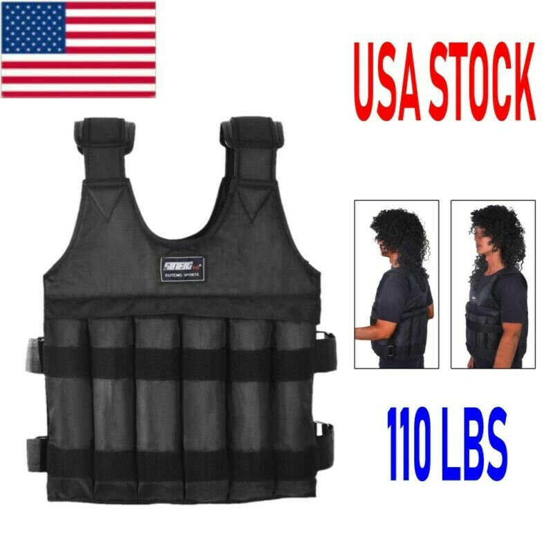 Workout Weighted Vest Adjustable Weight Vest 110LB Exercise