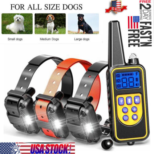 Dog Shock Training Collar With Remote Rechargeable Waterproo