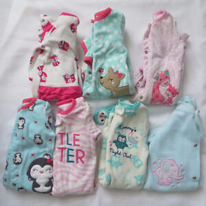 0-3 month baby girl lot (Sleepers & onsies)