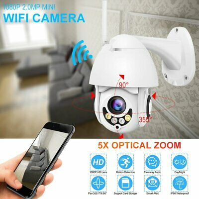 5X Zoom/Optical 1080P HD Wifi Camera Outdoor IP Wireless Security Night Vision