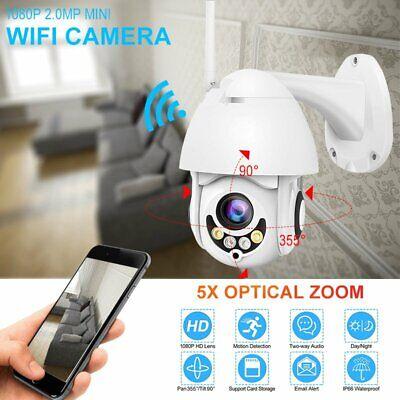5X Zoom/Optical 1080P HD Wifi Camera Outdoor IP Wireless Security Night (Optical Zoom Ip Network Camera)