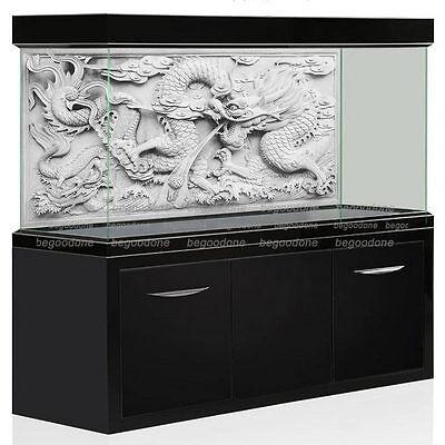 HD Aquarium Background Poster DIY Fish Tank Wall Decorations Grey Dragon Cameo - Diy Fish Tank
