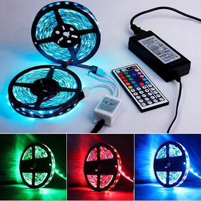 5~10M 5050 RGB 150 LED STRIP LIGHTS COLOUR CHANGING FLEXBILE TAPE LIGHTING 12V