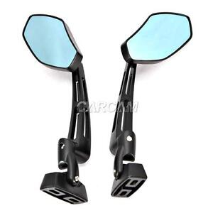 Black RACING Rear Mirrors For Triumph Daytona 600 675 955 Adventurer 900