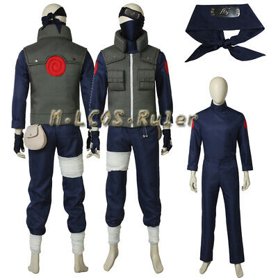 Naruto Outfits (Anime Naruto Hatake Kakashi Cosplay Costume Halloween Outfit Costume Custom)