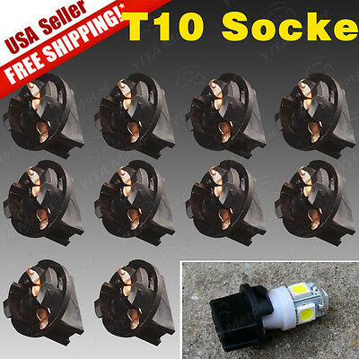 - 10 PCS Twist Lock T10 168 194 Wedge instrument Panel Dash Light Bulb Base Socket