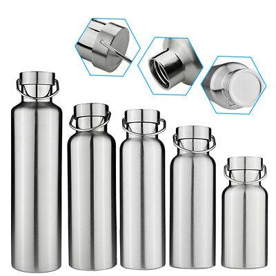 Doppel-wand-wasser (350-1000ml Edelstahl Vakuum Trinkflasche Doppelwand Wasserflasche Thermosflasche)